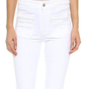 7 For All Mankind White braided jeans
